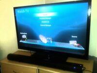 "Samsung 43"" Plasma HD Tv with soundbar"