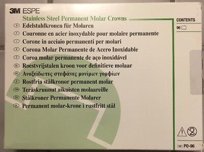 Espe Permanent Molar Stainless Steel Crowns Kit Po96 Assorted 96kit
