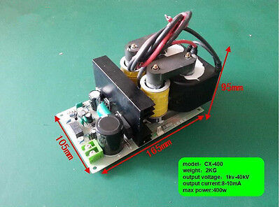 High Voltage Power Supply With 40 Kv 400 W Output For Removing Smoke Lampblack