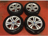 17'' GENUINE BMW 3 SERIES F30 SPORT ALLOY WHEELS TYRES 5X120 VIVARO TRAFIC E90 E92