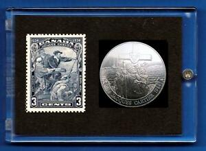 Jacques-Cartier-1534-1934-Canada-Commemorative-Stamp-amp-Coin-Set