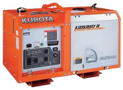 Brand New Kubota Gl7000 Lowboypro 7kw 7000 Watt Diesel Generator 150 Off