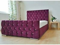 Diamonte bed # HUGE SALE- ALL SIZES-ANY COLOUR