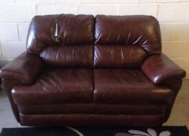 2 seater brown leather sofa can deliver