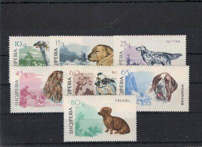 Albania 1966 Mi 1104-10 Dogs  MNH 12.-Eu