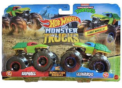 Hot Wheels 2020 Demolition Doubles Monster Trucks - TMNT Leonardo vs. Raphael