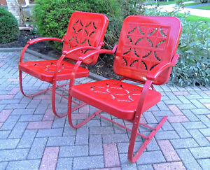 mid century chairs, outdoor furniture, vintage metal chairs, London Ontario image 1
