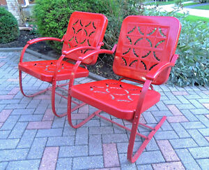 mid century chairs, outdoor furniture, vintage metal chairs,