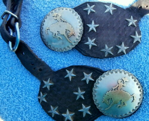Maker Marked Bucking Bronc Bronco 2-1/4 in. wide Conchos/Stars Horse Spur Straps
