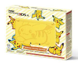 Nintendo 3DS XL Pokemon Yellow Pikachu Edition $290