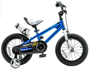 RoyalBaby BMX Freestyle Steel 14-inch Kids' Bike with Training W