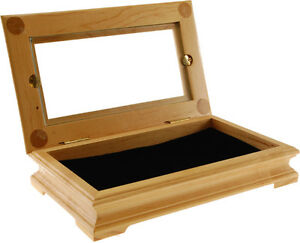 Wood Display box with *Glass Top*