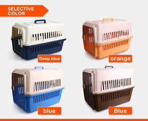 Airline Approved Pet Dog Cat Puppy Carrier Travel Cage Crate