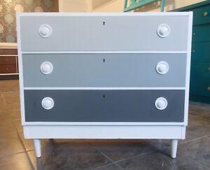 MId Century 3 Drawer Dresser