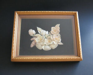 Vintage Framed Shadow Box Shell Art