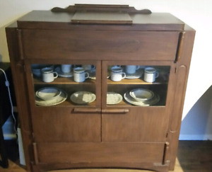 China cabinet with dishes need gone asap!!