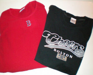 Cheers Bar XL T Shirt and Boston XL Warm Up Pullover Set