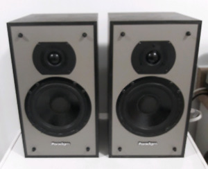 Very Rare Mint Pair of Black Paradigm 3se Mini Speakers