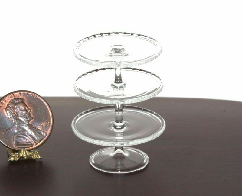 Dollhouse Miniature 3 Tiered Artisan Glass Stand by Phil Grenyer
