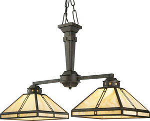 Bronze Light Chandelier - Arts and Craft Collection