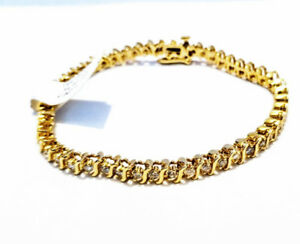 NEW 2.01 carat diamond 14K gold bracelet 14.40 gramm 6.110 CAD