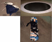sale of Trampoline, skate boots and skateboard