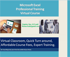 MS EXCEL COURSES OFFERED !! - Limited Spots !