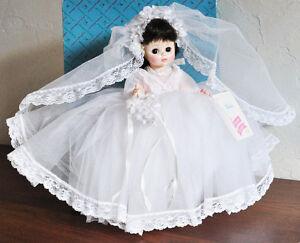 "VINTAGE MADAME ALEXANDER BRIDE DOLL #1570 14"" MINT COND w BOX"