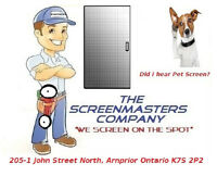Retractable window screen service by The ScreenMasters Company