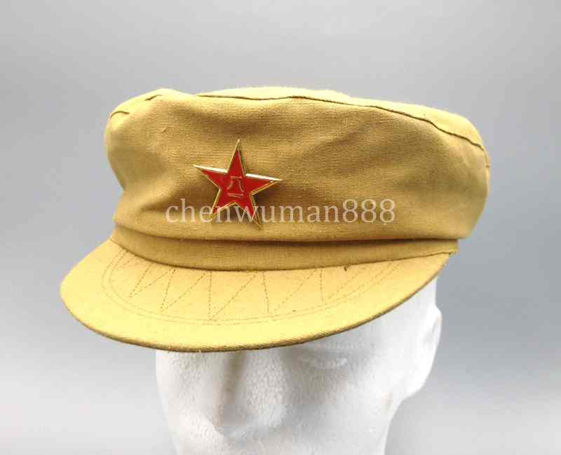 CHINESE WAR ARMY MILITARY OFFICER M-1950 TYPE 50 COTTON HAT CAP XL
