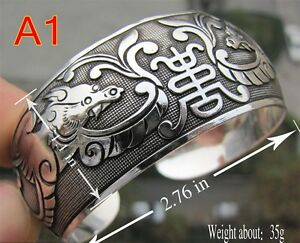 Beautiful! 40 style Tibetan Tibet Silver Totem Bangle Cuff Bracelet