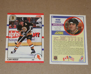 Score 1990-91 hockey cards