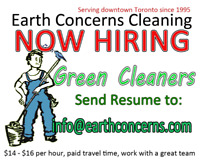 Part-Time CLEANERS for downtown Toronto