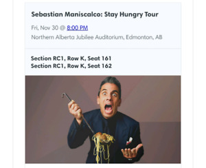 Sebastian Maniscalco - Stay Hungry Tour