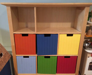 Solid wood toy storage unit / cubby