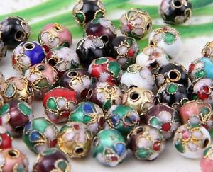 Wholesale-100Pcs-Mixed-Cloisonne-Round-Spacer-Beads-6-8mm