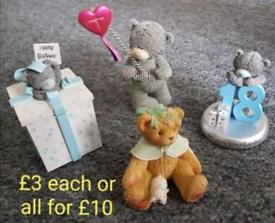 Tatty Teddy and cherished bear figurines