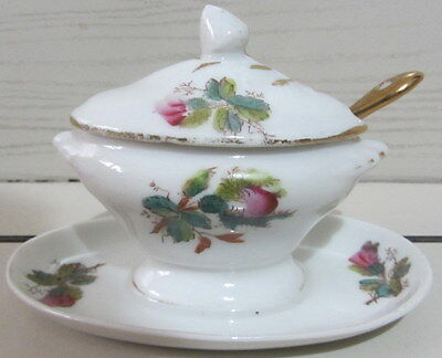 Antica zuppierina - salsiera - ceramica / decoro floreale