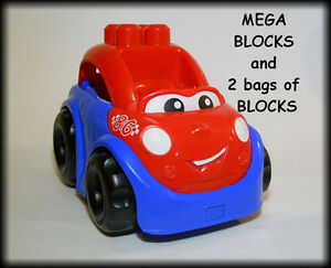 MEGA BLOKS - Car and 2 Bags Blocks