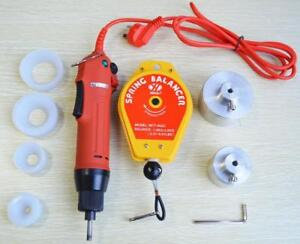 Electric Hand Held Bottle Capping Machine 220v+ Spring Balancer+ 4 Silicon Rubber Pad  Item#181006