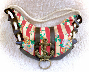 Betsey Johnson Betseyville Purse Bag Sailor Nautical Themed
