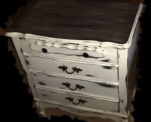 "Beautiful ""shabby chic"" antique  dresser and hutch"