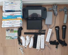 Nintendo Wii U 32GB with Mario kart + 17 games