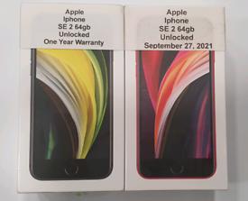 Brand New Apple Iphone SE 2 64gb-128gb-256gb Unlocked