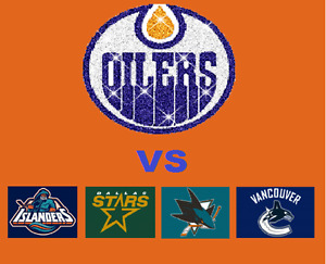 Oilers VS Islanders, Stars, Sharks, Canucks!! All you can eat!!