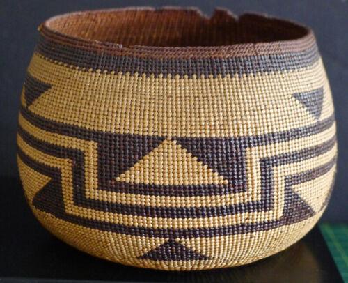Northern CA Native American Basket-Very Tight Weaving-Hupa, Karok? c 1920/40s