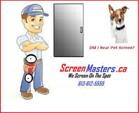 The ScreenMasters.ca Your window and Door Screen Repair Experts