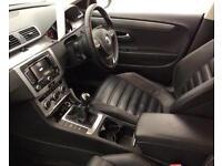 BLACK VOLKSWAGEN PASSAT CC 2.0 TDI CR 170 GT DSG R LINE 140 FROM £41 PER WEEK.