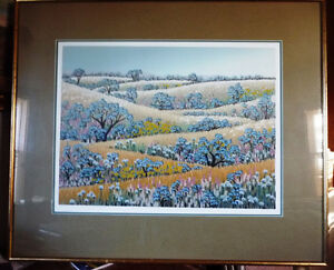 "Signed Serigraph by Louise Dandurand ""Celebration of Summer"""