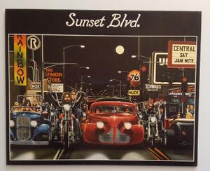 """Tableau d'une reproduction du légendaire """"Sunset Boulevard"""""""